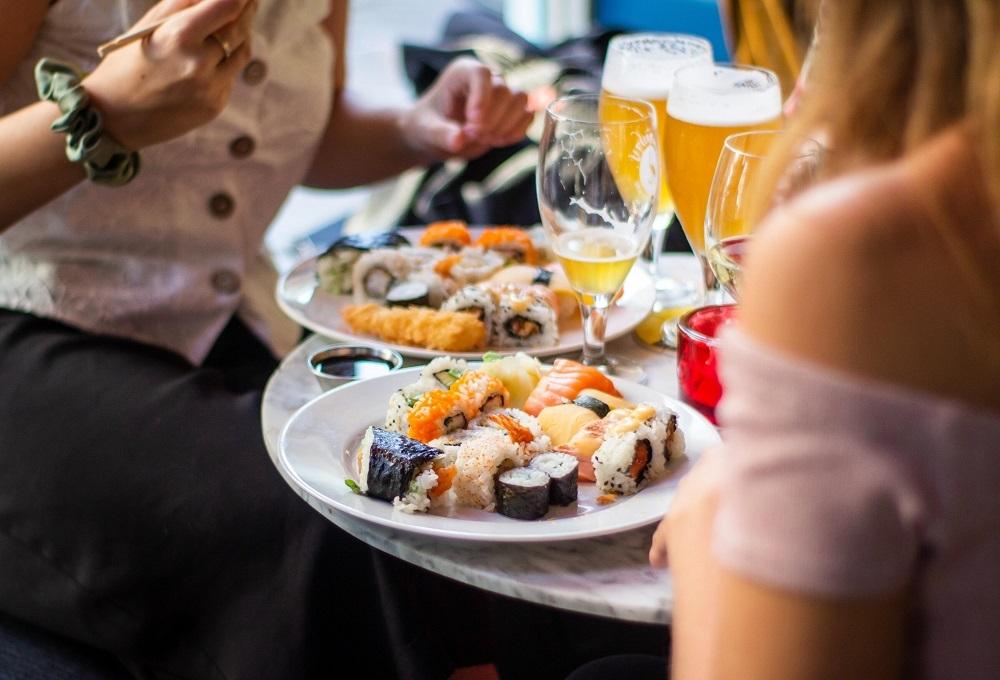 sushi en bier